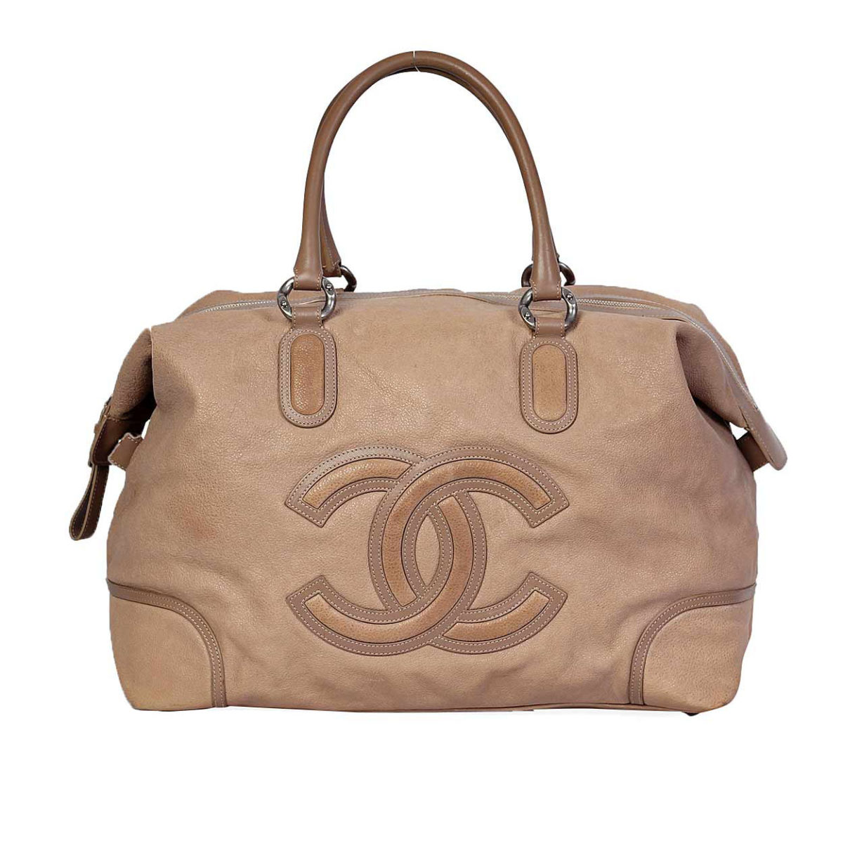 2862bf2df495ca CHANEL Leather CC Medallion Large Weekender Brown | Luxity