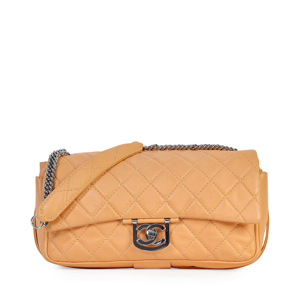 c98c3e199869da CHANEL Quilted Lambskin Icon Large Classic Flap Brown | Luxity