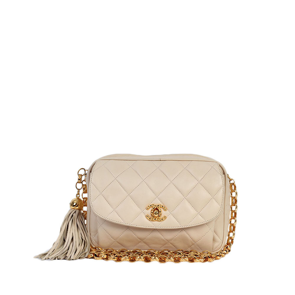 eb4765ebb7a3 CHANEL Vintage Quilted Calfskin Leather Bag | Luxity