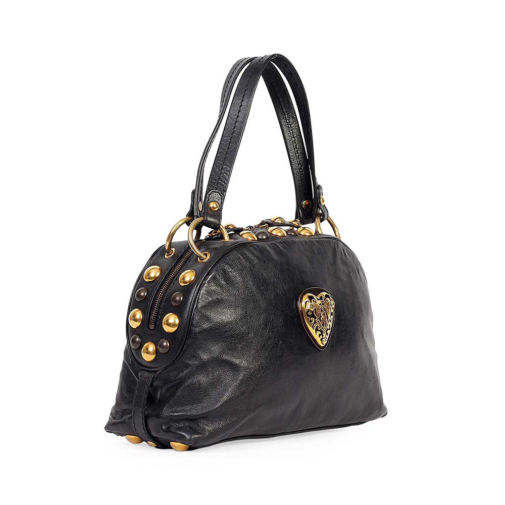 8811dc8803848d GUCCI Babouska Medium Dome Bag Black | Luxity