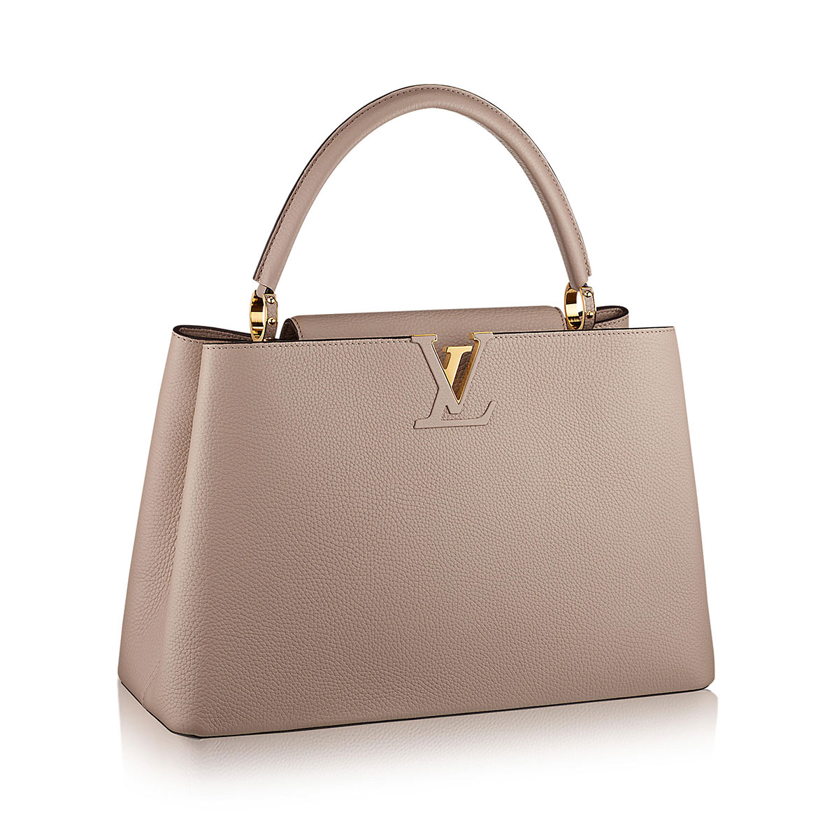 LOUIS VUITTON Taurillon Capucines GM Galet