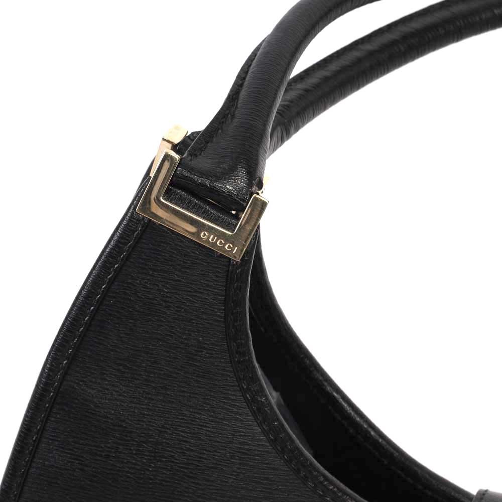 3a9aa0fe421 GUCCI Vintage Leather Jackie O Bag Black
