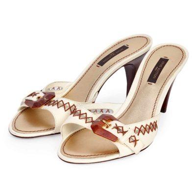 louis vuitton designer shoes. louis vuitton wooden buckle leather kitten heel sandals \u2013 s: 37 (4) new louis vuitton designer shoes