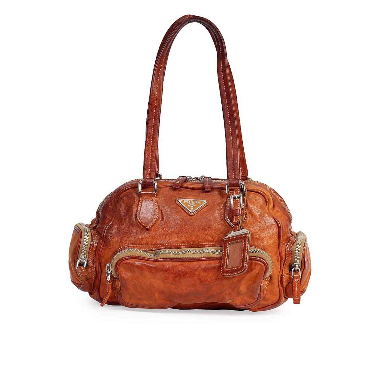 704b3047ec98 PRADA Vintage Multipocket Shoulder Bag Brown | Luxity