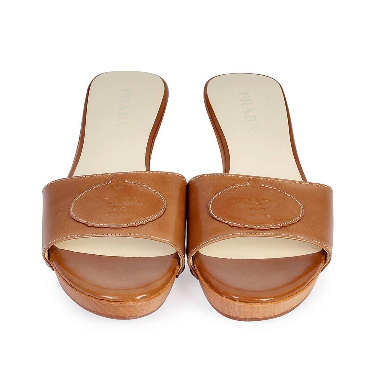PRADA Wooden Slide Sandals - S: 37 (4)