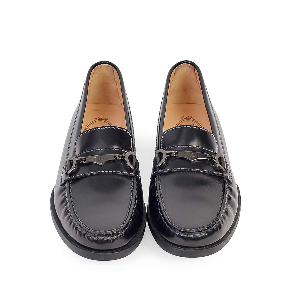 9d7e20ca8f274 TODS Leather Loafers Black - S: 37 (4) - NEW | Luxity