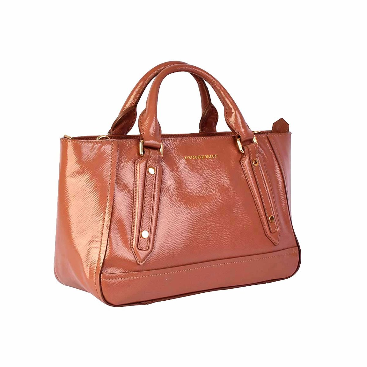 88c1a47123c1 BURBERRY London Patent Leather Shopper Rose
