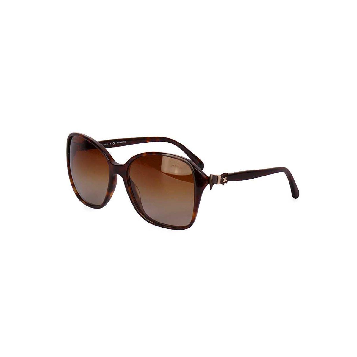 CHANEL Tortoise CC Bow Sunglasses 5205 - Luxity