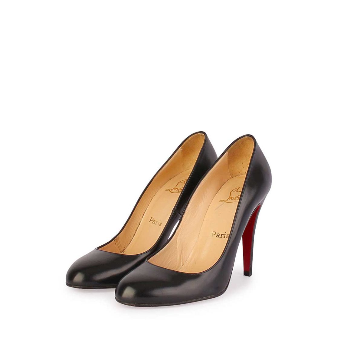 christian louboutin ron ron 100mm pumps black