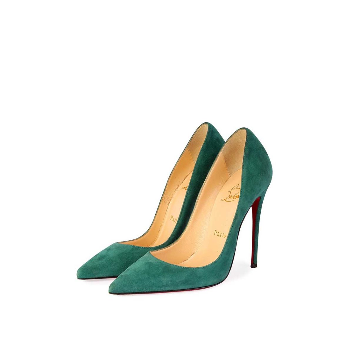 online store d1f08 d8f6f CHRISTIAN LOUBOUTIN Suede So Kate 120 Pumps Green - S: 35.5 (3)