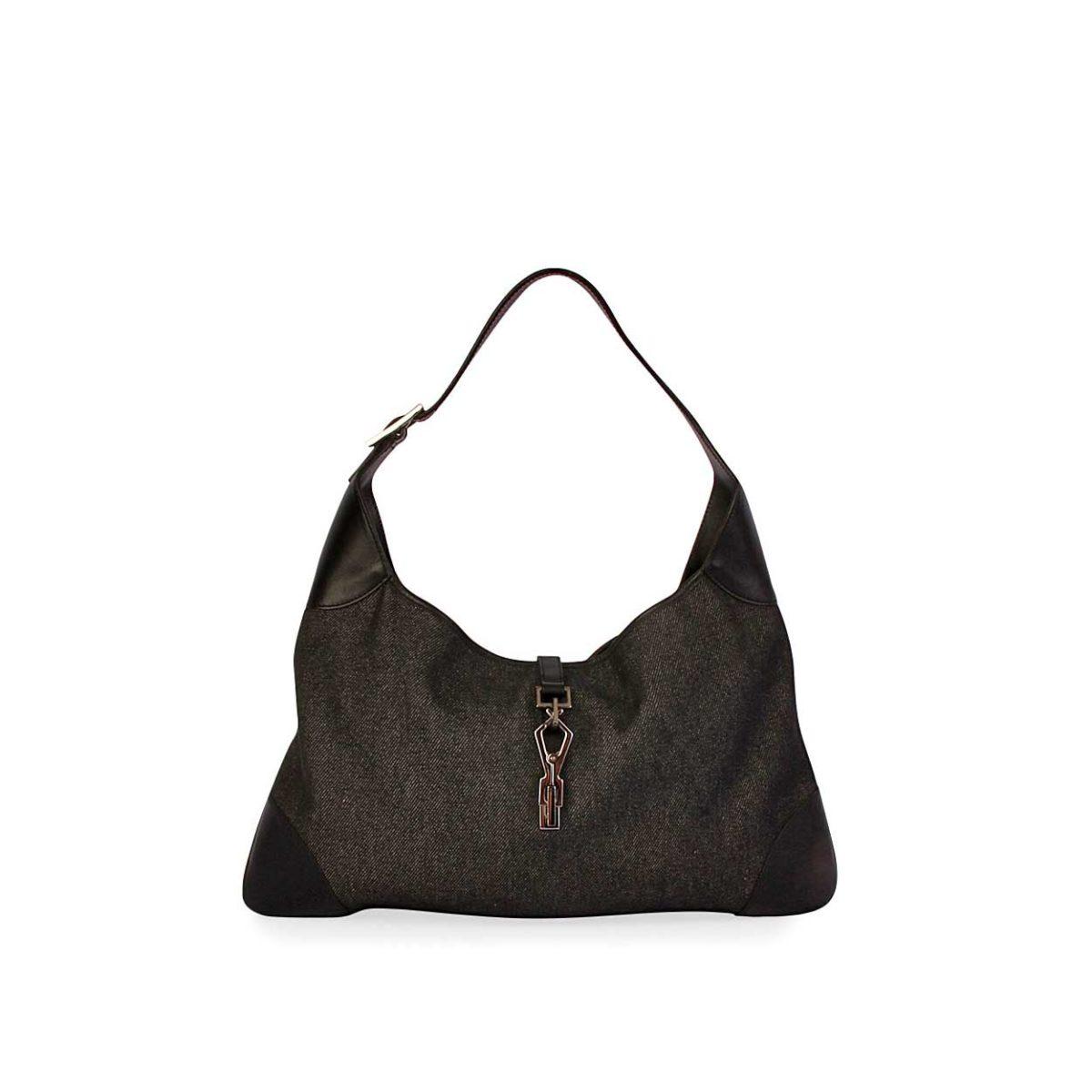7fc02f01827 GUCCI Vintage Denim Jackie O Bag