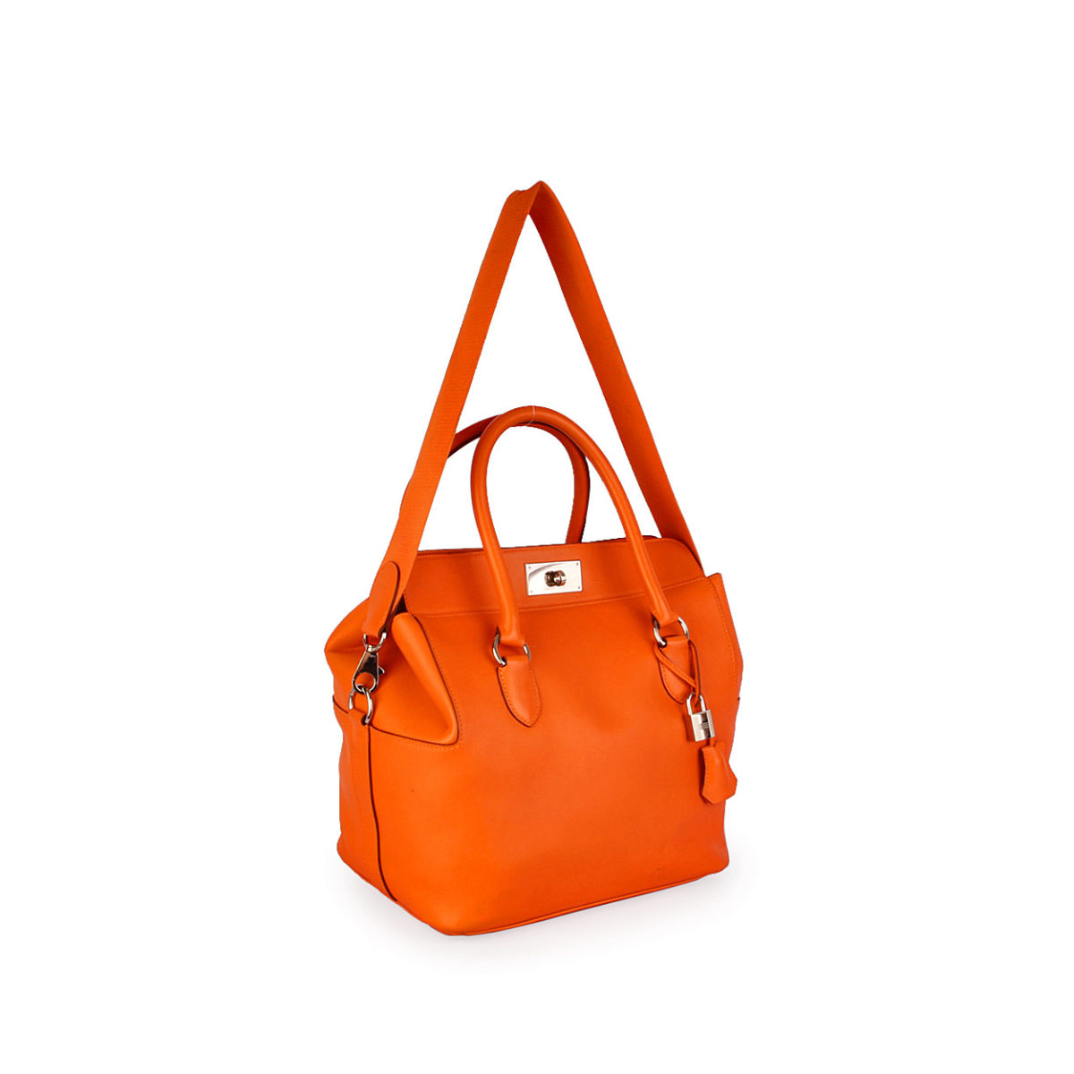 6db87c1355c HERMES Swift Leather Toolbox Bag 26cm Orange   Luxity