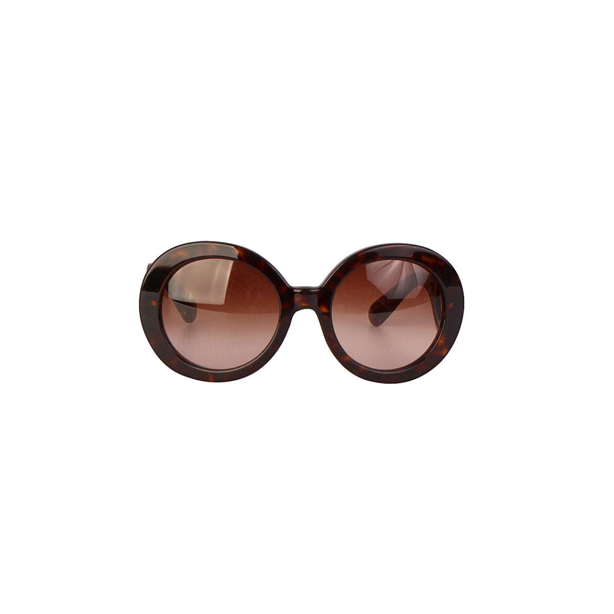 PRADA Tortoise Minimal Baroque Sunglasses SPR27N