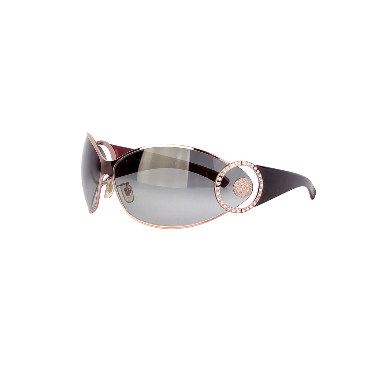 Versace Sunglasses Black Pink Frames With Crystals 2064 B Luxity