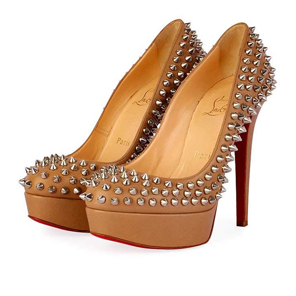 newest ecd72 6dd12 CHRISTIAN LOUBOUTIN Bianca 140mm Spikes Brown/Silver - S: 35 (2.5)