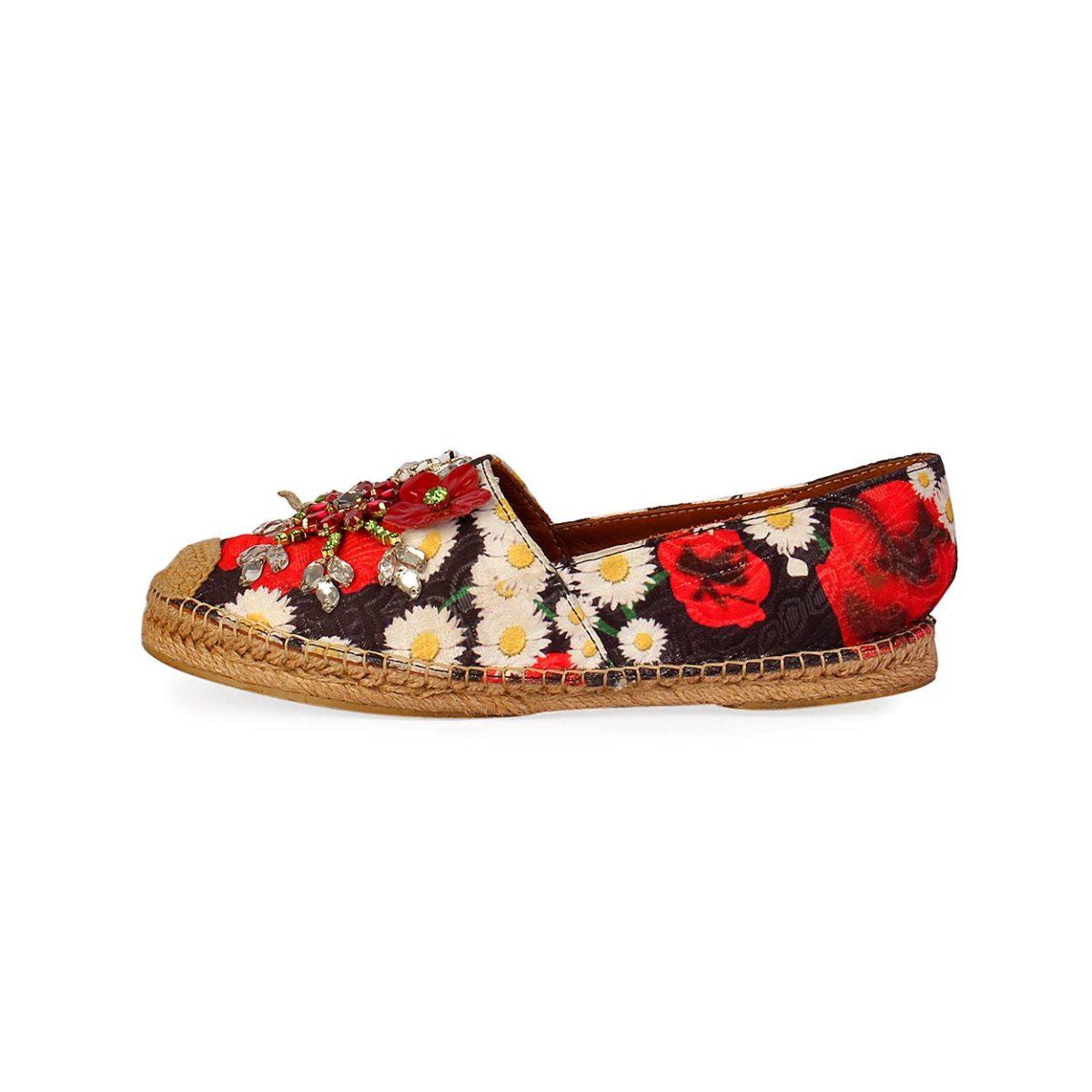 27e7005d0 DOLCE & GABBANA Floral Embellished Espadrilles - S: 37 (4)   Luxity