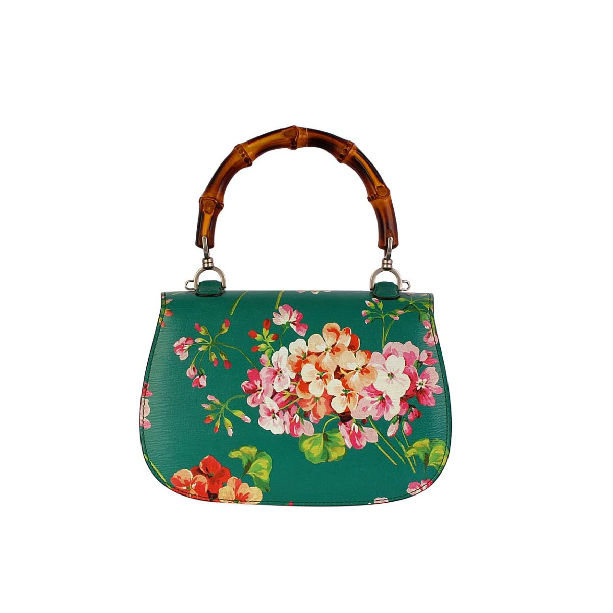 Fashion week Bamboo gucci classic blooms top handle bag for lady