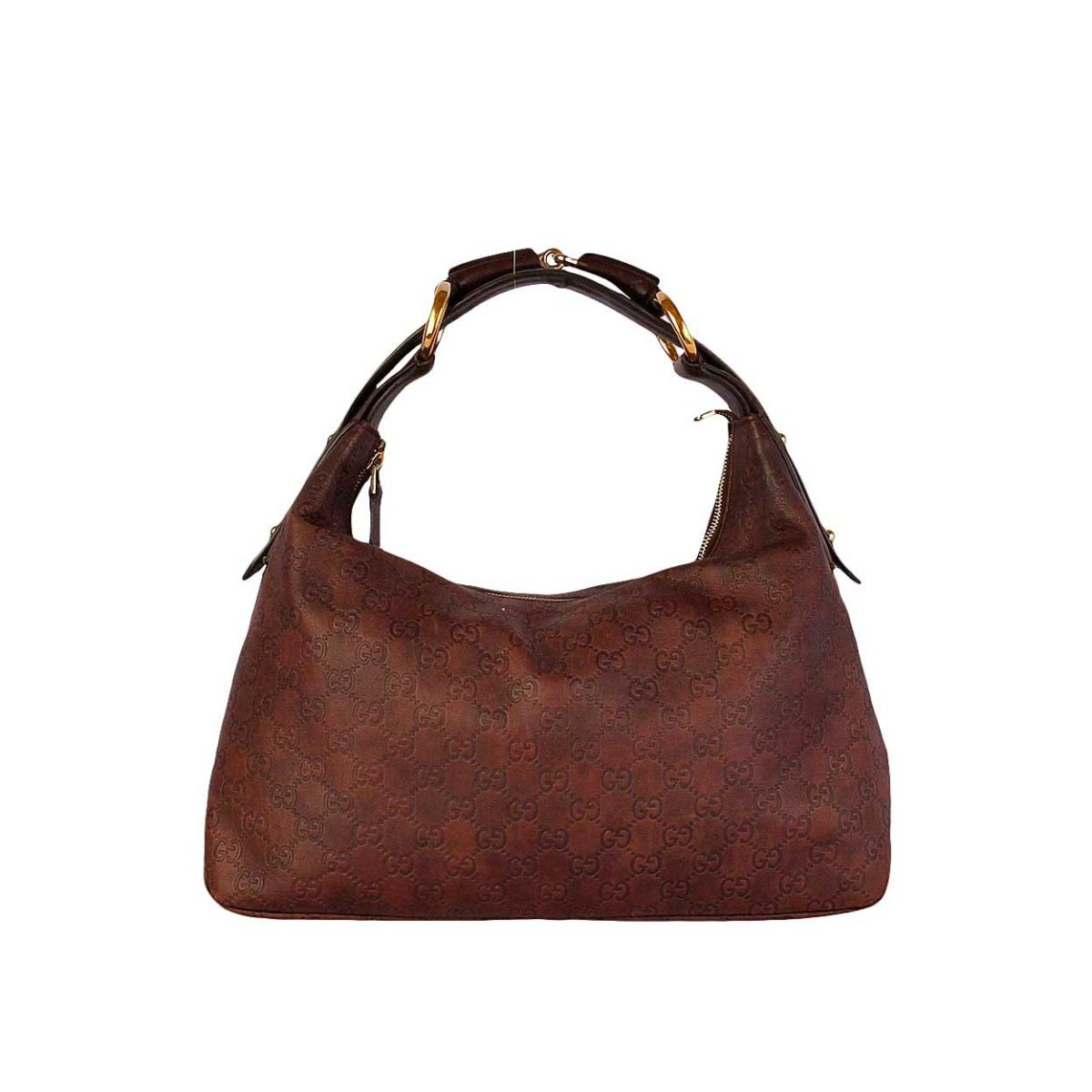 ed8ef9ab4ac61f GUCCI Guccissima Brown Leather Horsebit Hobo | Luxity