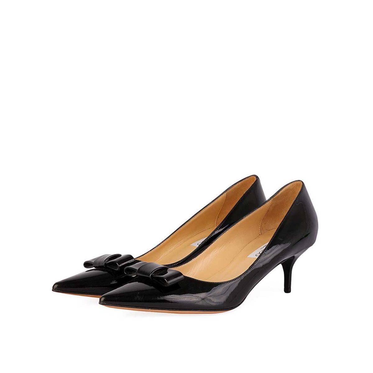 JIMMY CHOO Patent Madeeha Kitten Heels Black - S  39 (6)