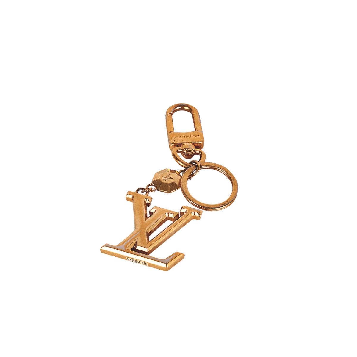 fedbbb32128 LOUIS VUITTON LV Facettes Bag Charm   Key Holder