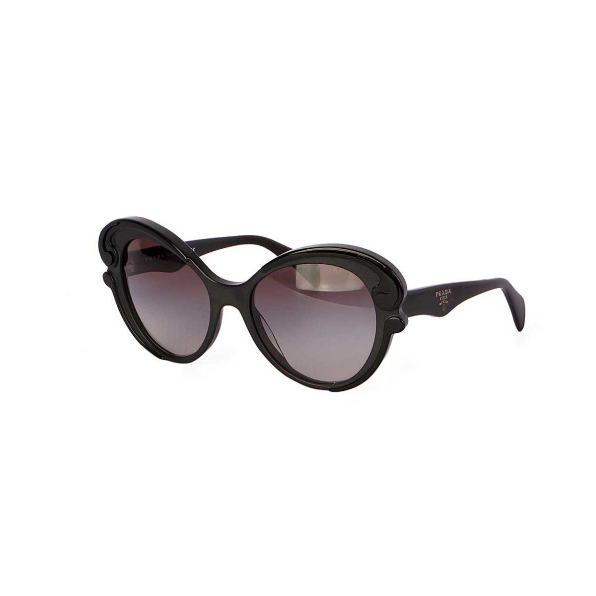 76426382fbd87 PRADA Havana Cat Eye Sunglasses Black Matte Resin SPR28N