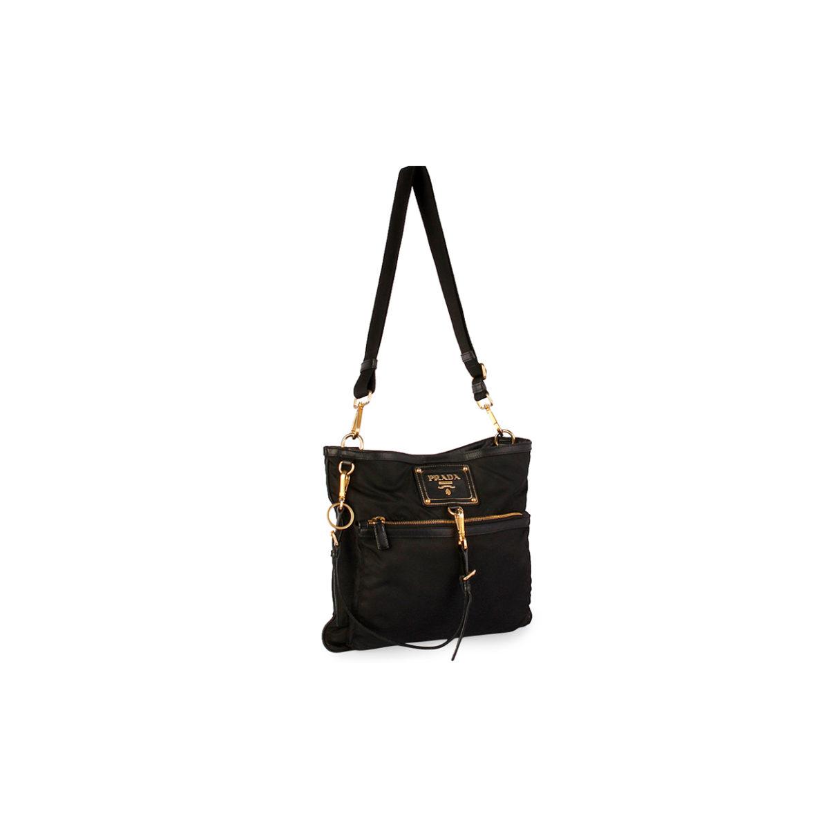 Tessuto small crossbody bag black