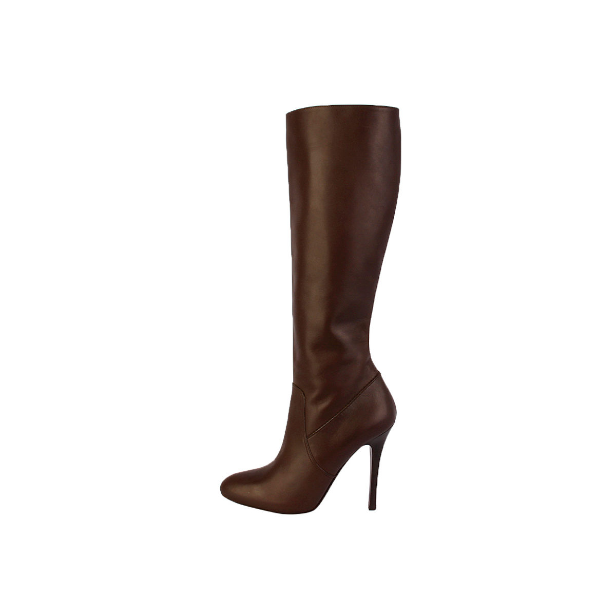 ralph leather stiletto boots brown s 38 5