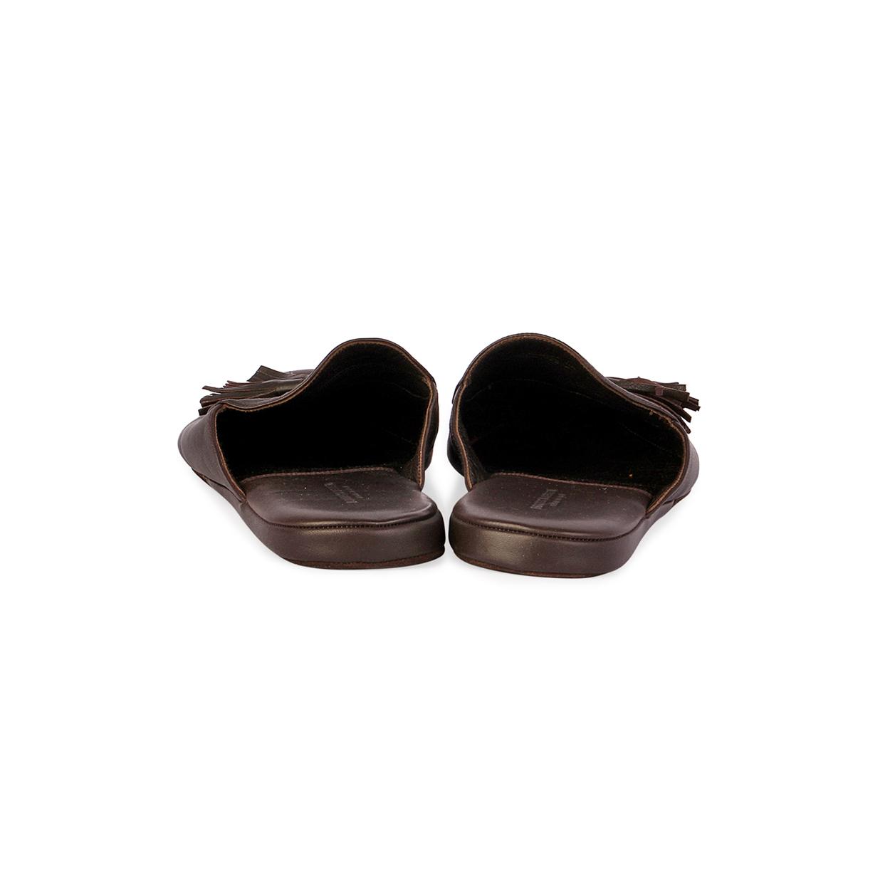 757c538d3bc9 BOTTEGA VENETA Intrecciato Leather Slippers - S 44 (9.5)-back