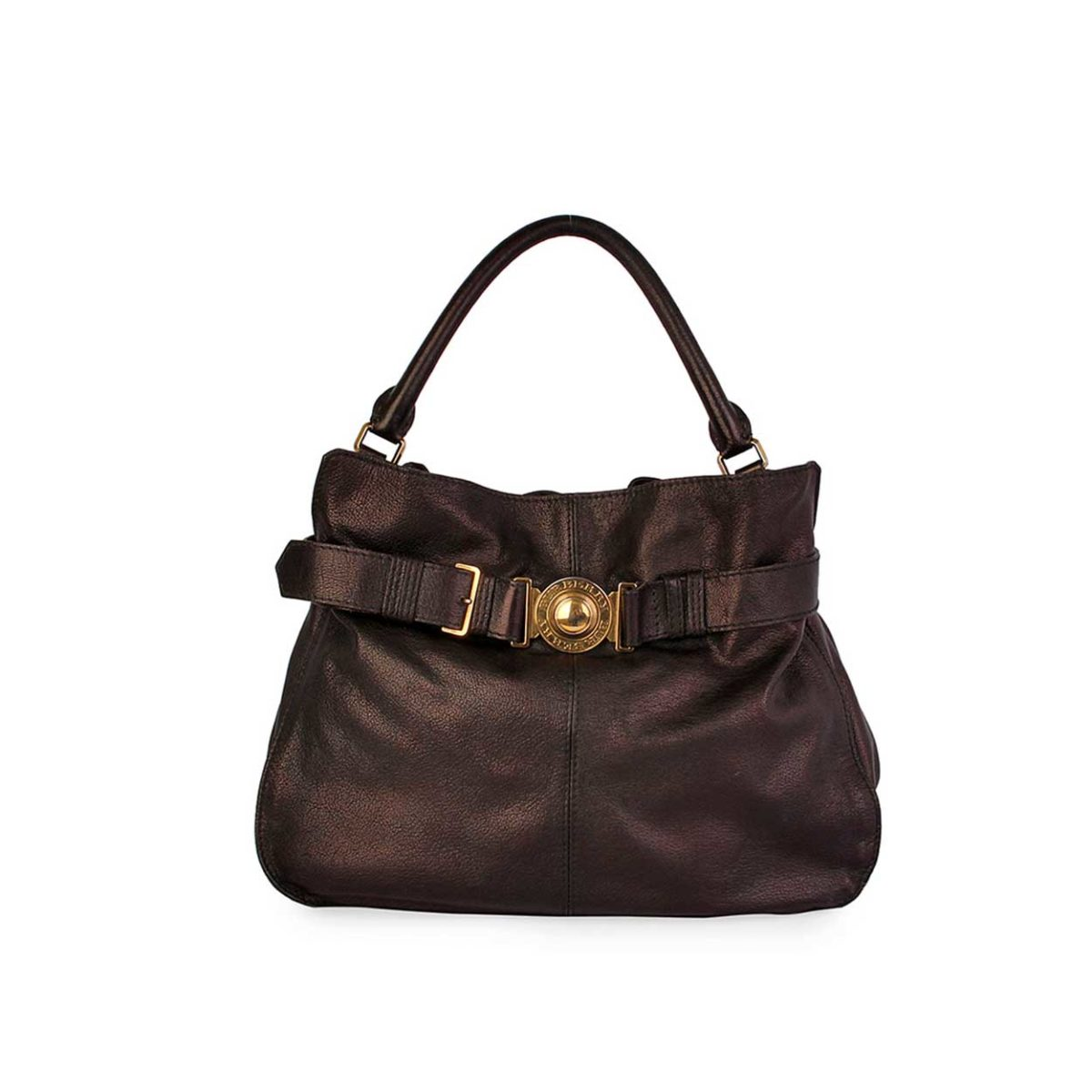 c4c6f23088ae BURBERRY Buffalo Leather Belted Shoulder Bag Brown