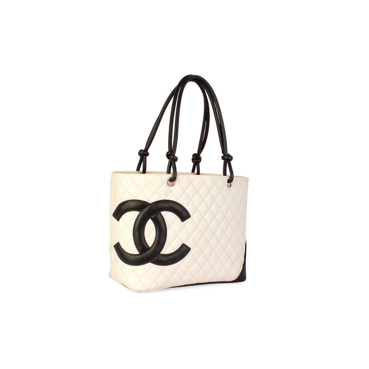 3cadd7fd0421 CHANEL Quilted Leather Ligne Cambon Large Tote White