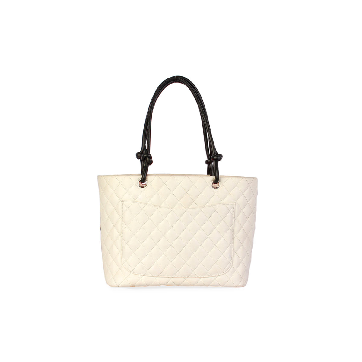 af6aef22ae CHANEL Quilted Leather Ligne Cambon Large Tote White | Luxity