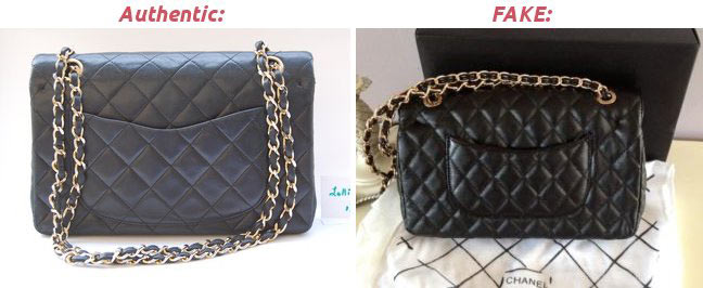 Authentic vs Fake Chanel
