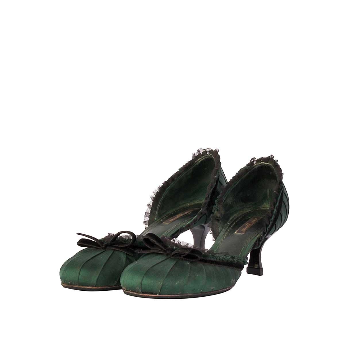 louis vuitton designer shoes. louis vuitton satin kitten heels green \u2013 s: 35.5 (3) louis vuitton designer shoes