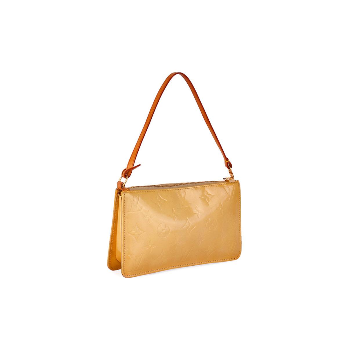 louis vuitton vernis lexington pochette bag beige luxity. Black Bedroom Furniture Sets. Home Design Ideas