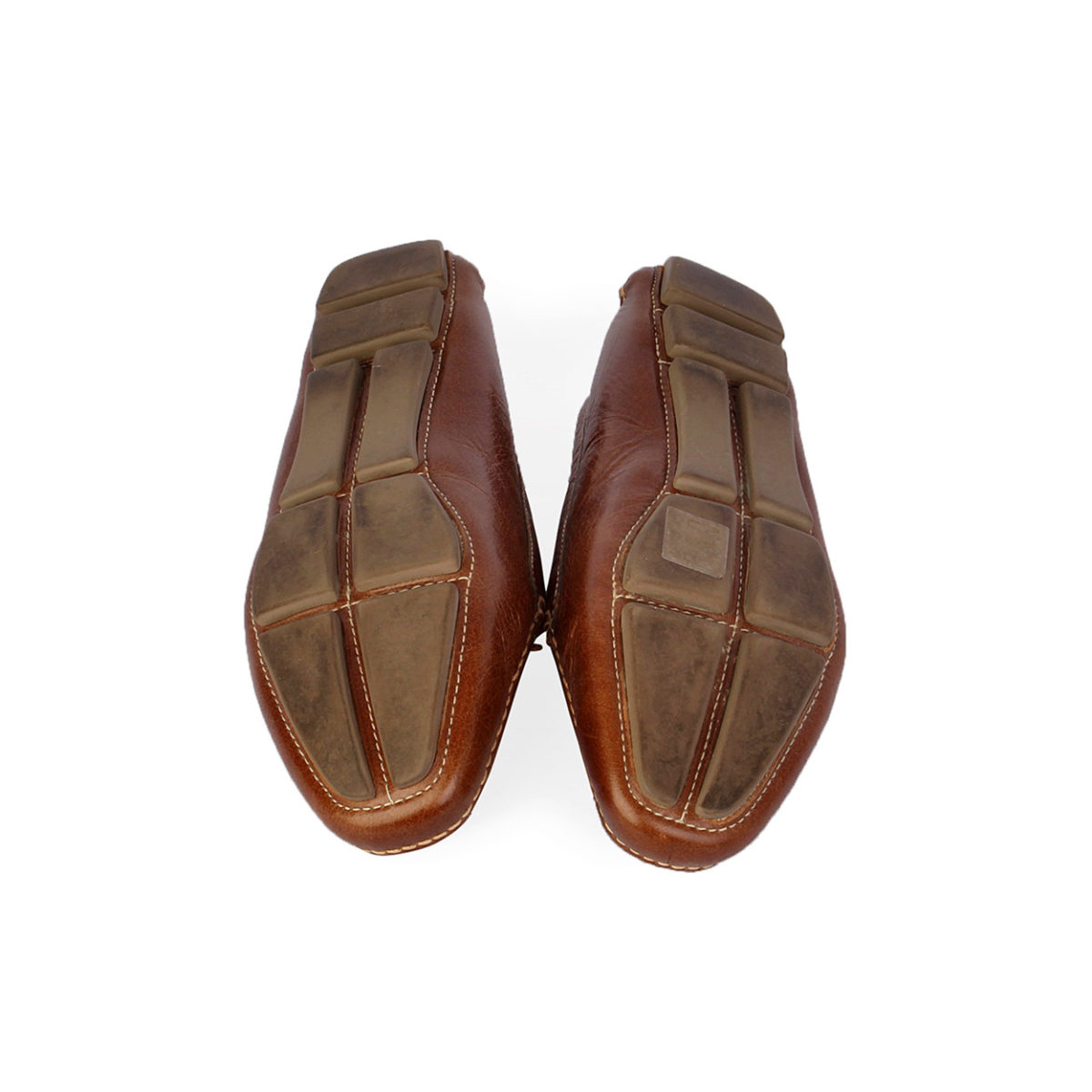 Leather Driver Shoes With Bow