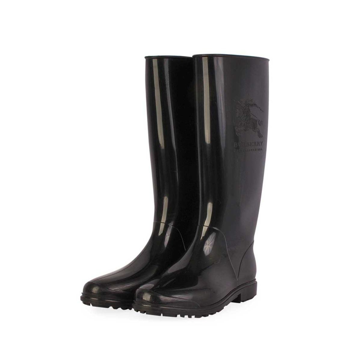 Burberry Rain Boots Black S 38 5 Luxity
