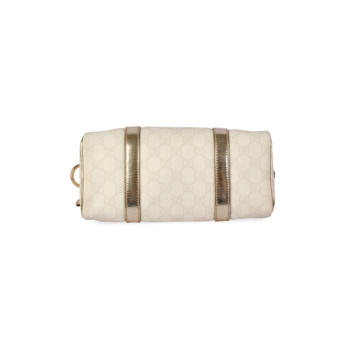 0c76a01cea9255 GUCCI GG Coated Canvas Joy Small Boston White | Luxity