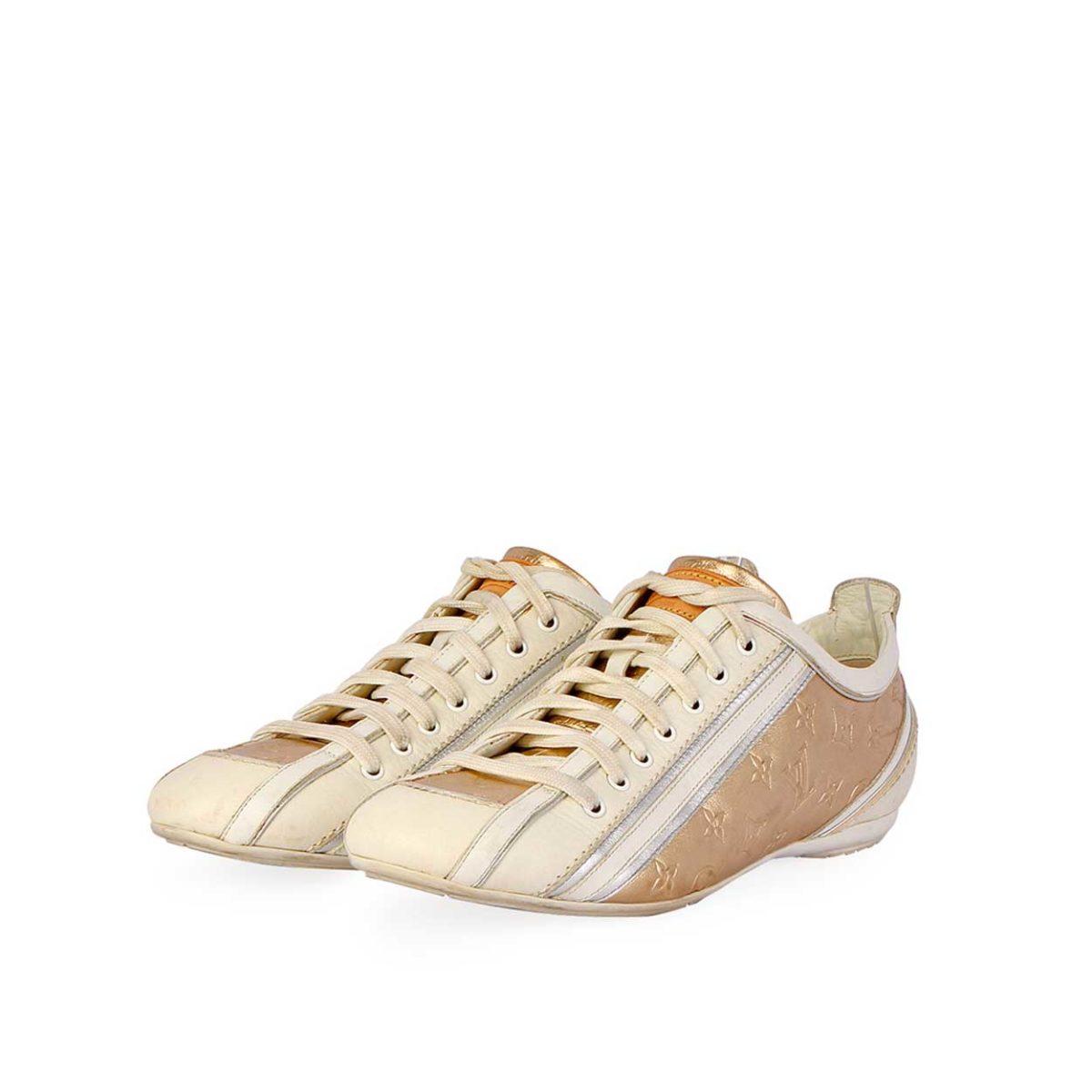 eb8524cacce5 LOUIS VUITTON Monogram Sneakers White Gold – S  36 (3.5)