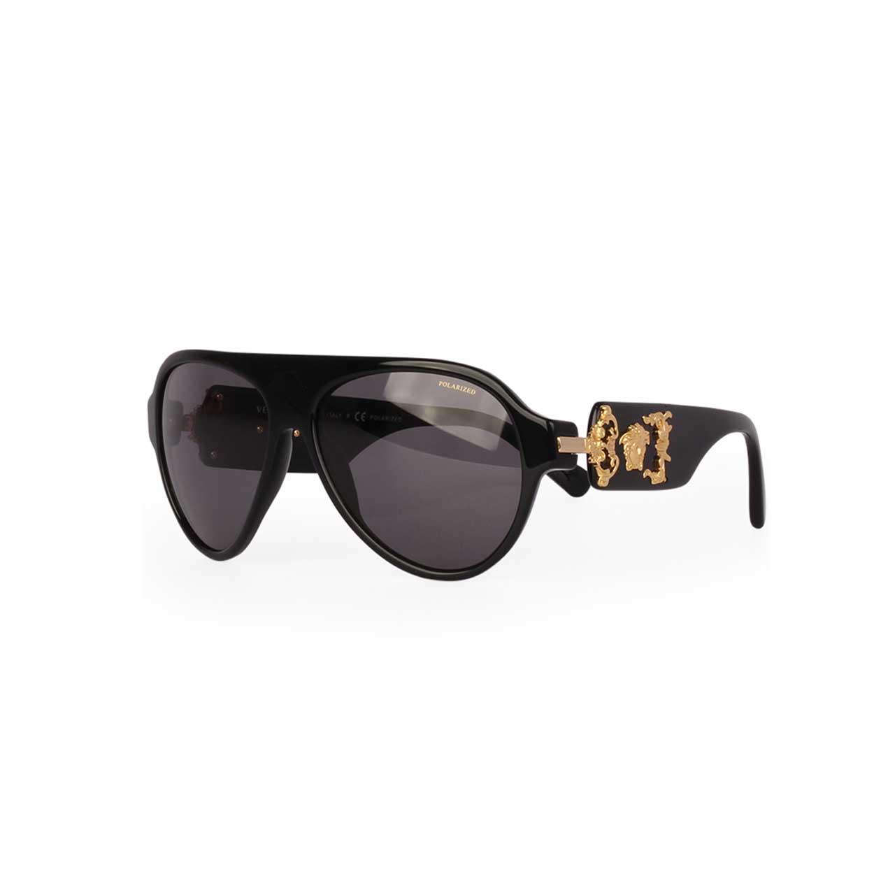 74034e437fc8 Versace Sunglasses Black Gold - Bitterroot Public Library