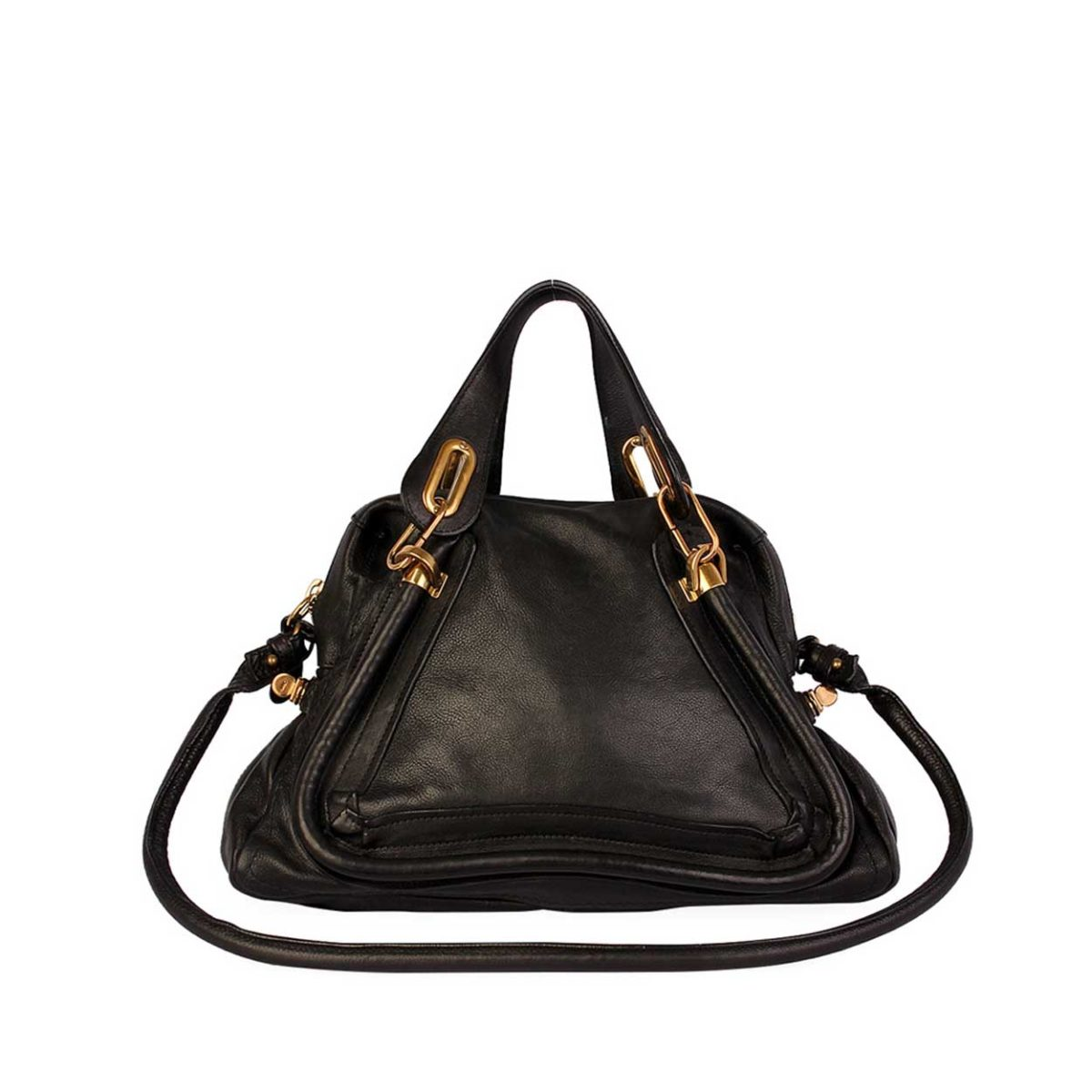 attractivedesigns how to find customers first CHLOE Pebbled Leather Small Paraty Bag Black