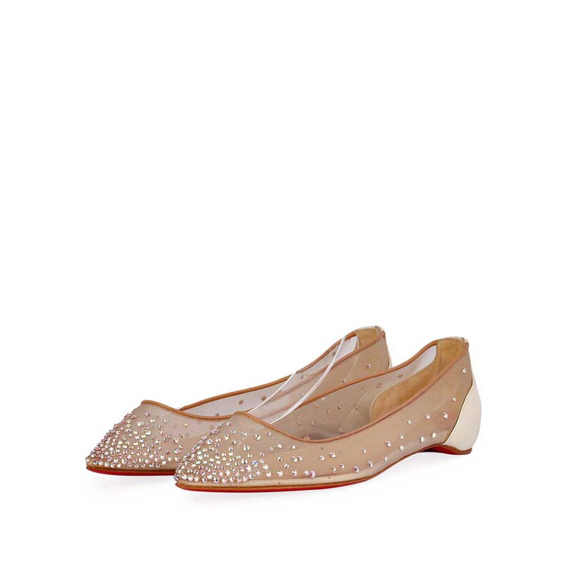 f5f5687f7d4 CHRISTIAN LOUBOUTIN Follie Strass Flats - S: 37.5 (4.5) - NEW
