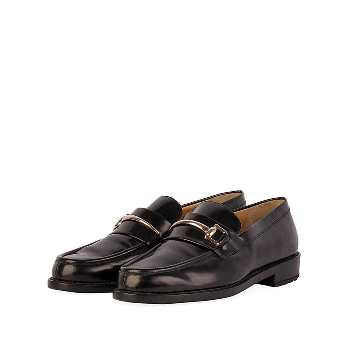 09fc2fdd28c GUCCI Horsebit Leather Loafers Black – S  35.5 (2.5)
