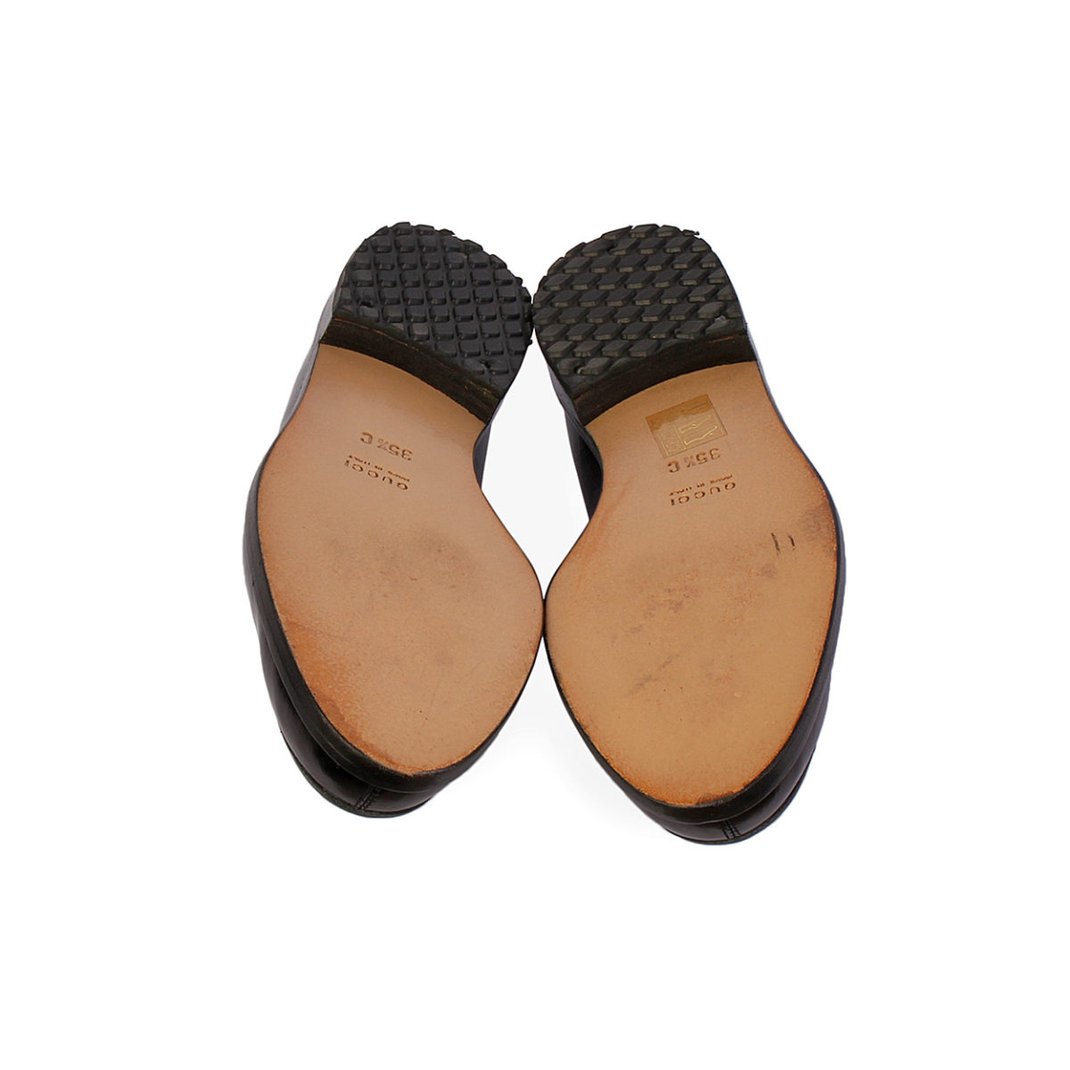 775ca5b6318 GUCCI Horsebit Leather Loafers Black – S  35.5 (2.5)