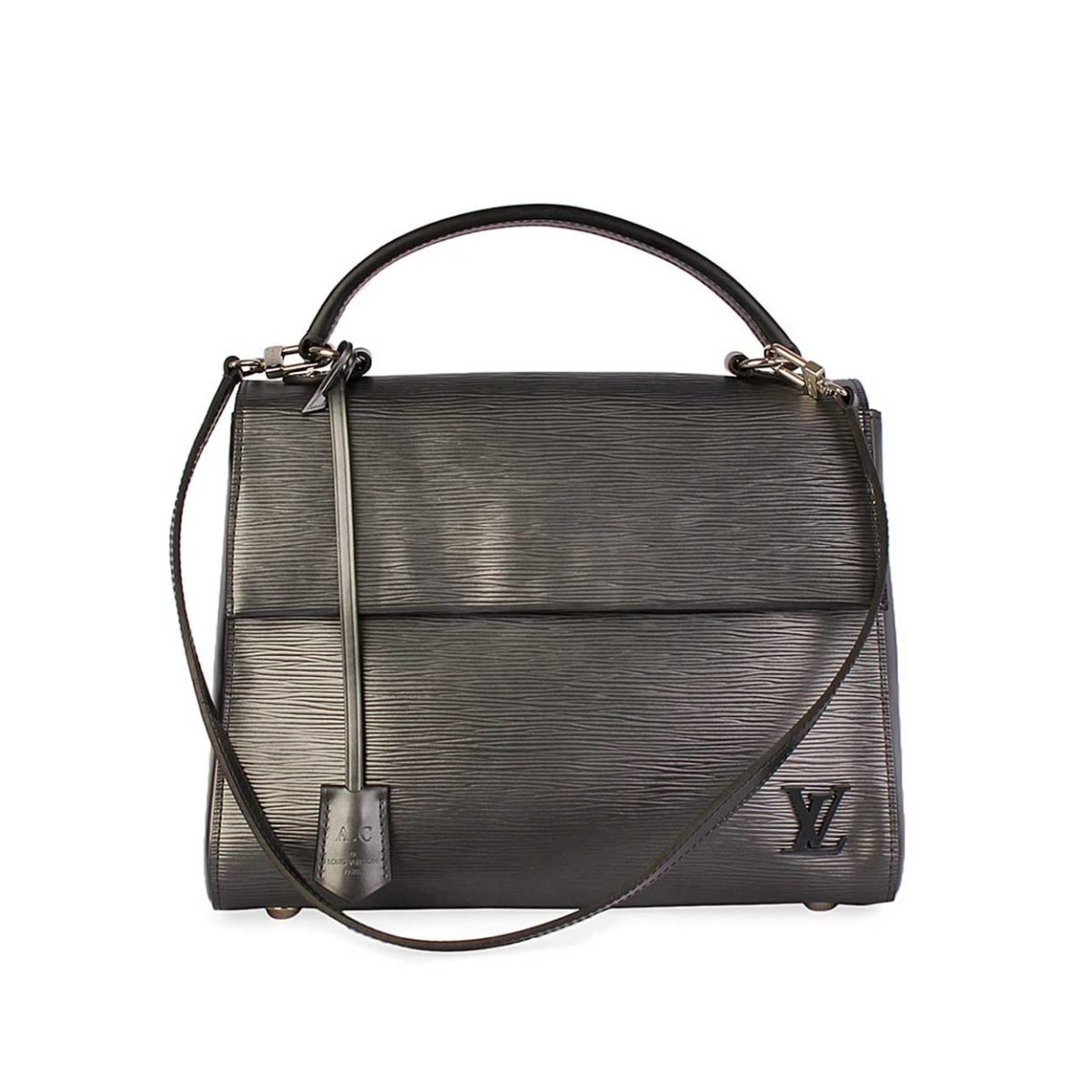 771d31342a59 LOUIS VUITTON Epi Leather Cluny MM Noir Electrique.   2