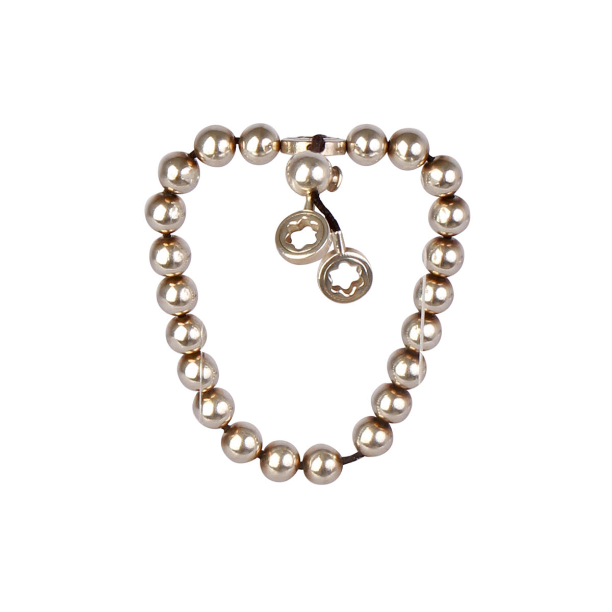 montblanc star collection silver beads bracelet luxity. Black Bedroom Furniture Sets. Home Design Ideas