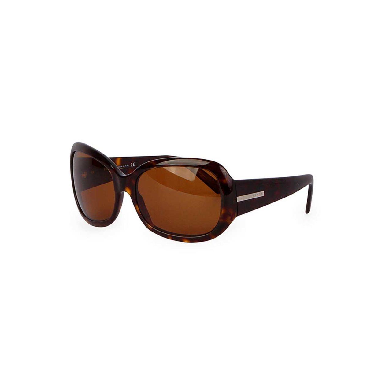 5afab0ae2ecd PRADA Oversized Sunglasses Brown SPR 13F | Luxity