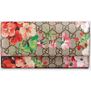 3721c7cc5969ae GUCCI GG BLOOMS CONTINENTAL FLAP WALLET: