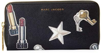 marc-jacobs-BLACK-MULTI-Tossed-Charms-Saffiano-Continental-Wallet (Copy)