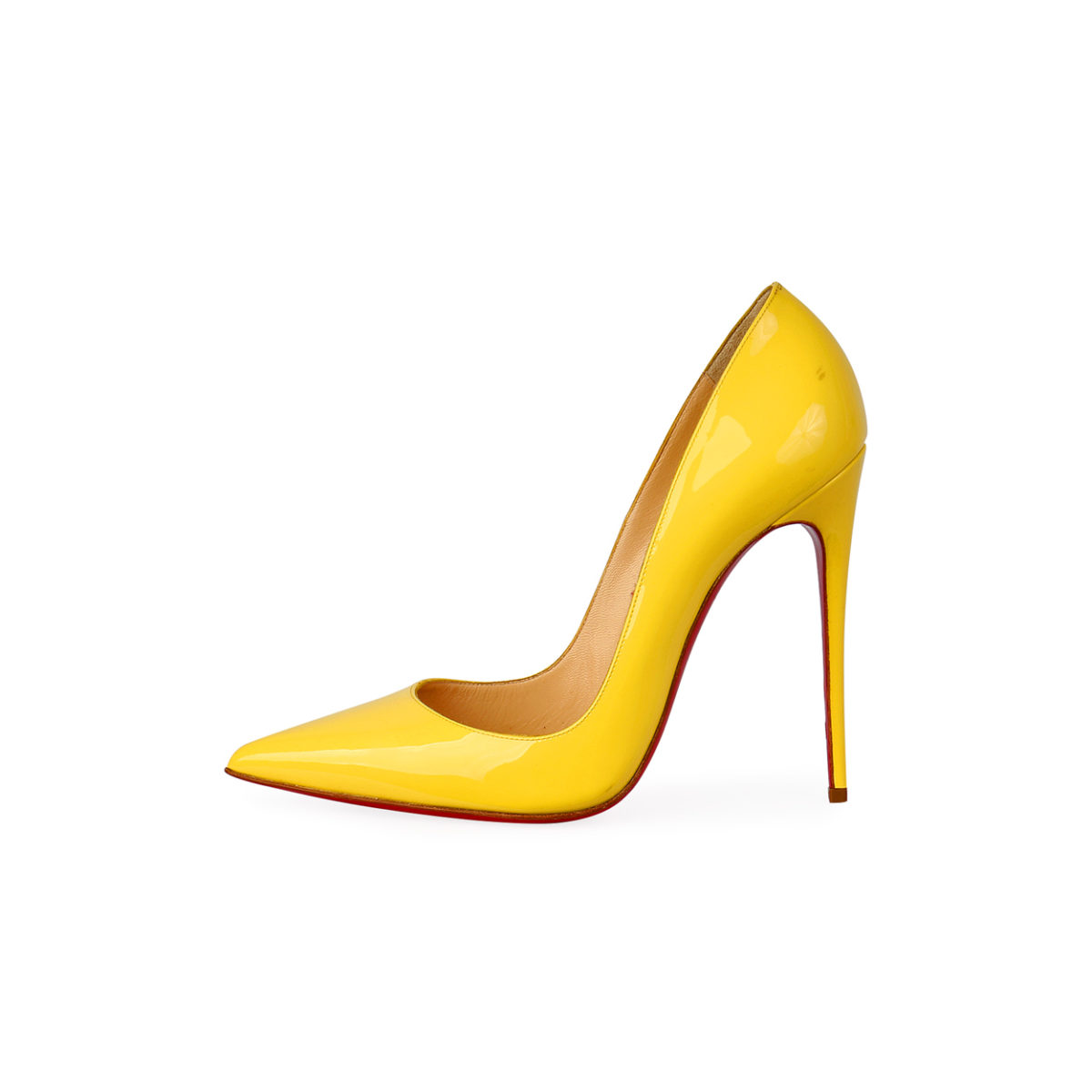2a72f328205 CHRISTIAN LOUBOUTIN Patent So Kate 120mm Pumps Light Yellow – S: 38.5 (5.5)