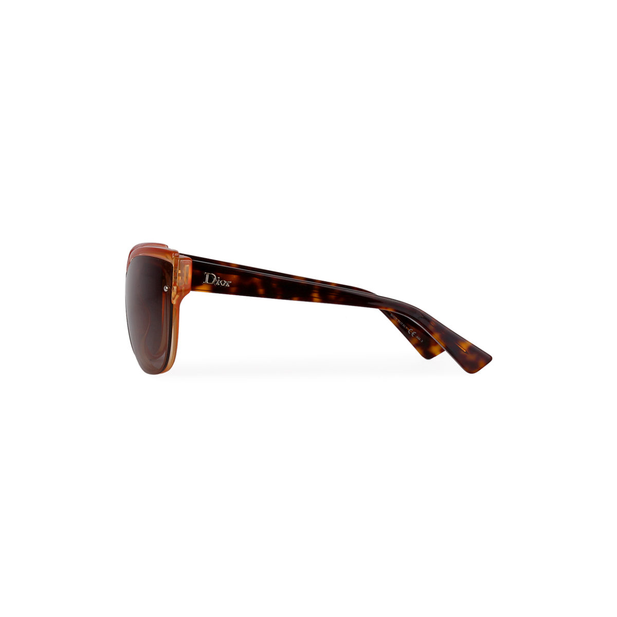 Dior Glisten3 Cat Eye Havana Sunglasses Brown Pale Orange